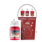 Seau YanKee Candle + Large Jarre + 3 Votives - 29,00 €